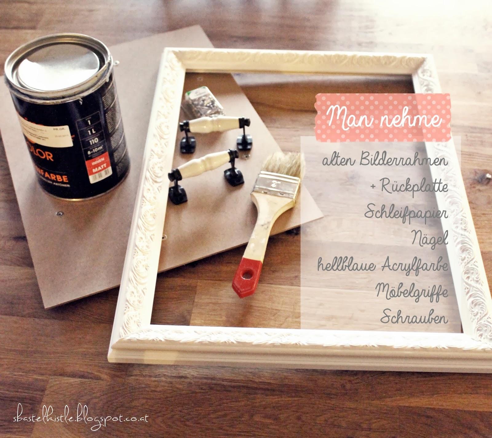s 39 bastelkistle diy tablett aus bilderrahmen. Black Bedroom Furniture Sets. Home Design Ideas