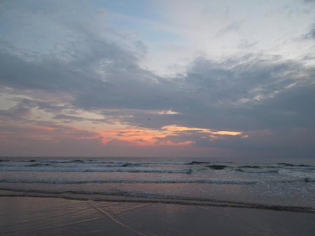 sunrise and waves