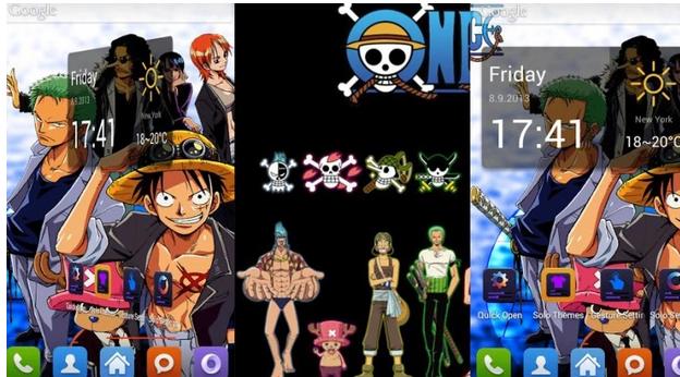 Kumpulan Tema One Piece Untuk HP Android+Cara Instalnya
