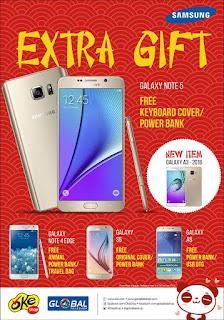 Samsung Extra Gift Promosi Imlek di Global Teleshop dan OkeShop