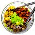 Potato, Tempeh Bacon, Mushroom Salad with Sweet Mustard Dressing