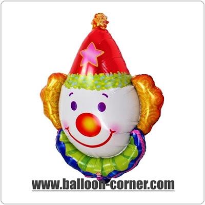 Balon Foil Kepala Badut