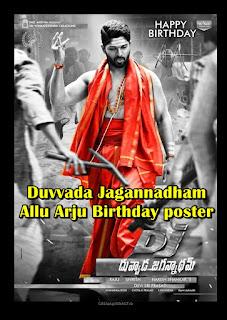 Allu Arjun's birthday poster of telugu movie Duvvada Jagannadham poster released