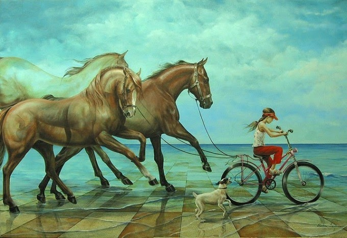 07-Chelin-Sanjuan Piquero-Oil-Paintings-in-Magical-Realism-www-designstack-co