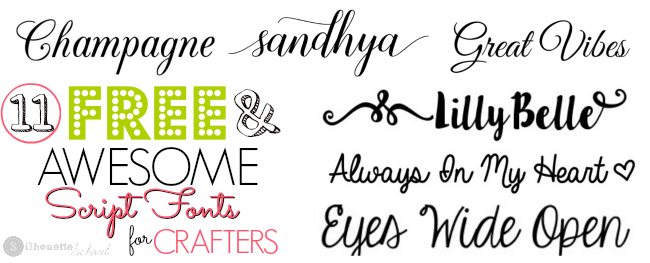 11 Free Script Fonts On My Favorite S List Silhouette