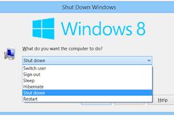 Cara Shutdown,Sleep Dan Restart Windows Dengan Keyboard