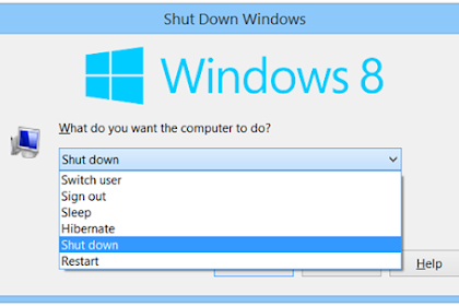 Cara Shutdown,Sleep Dan Restart Windows Dengan Keyboard