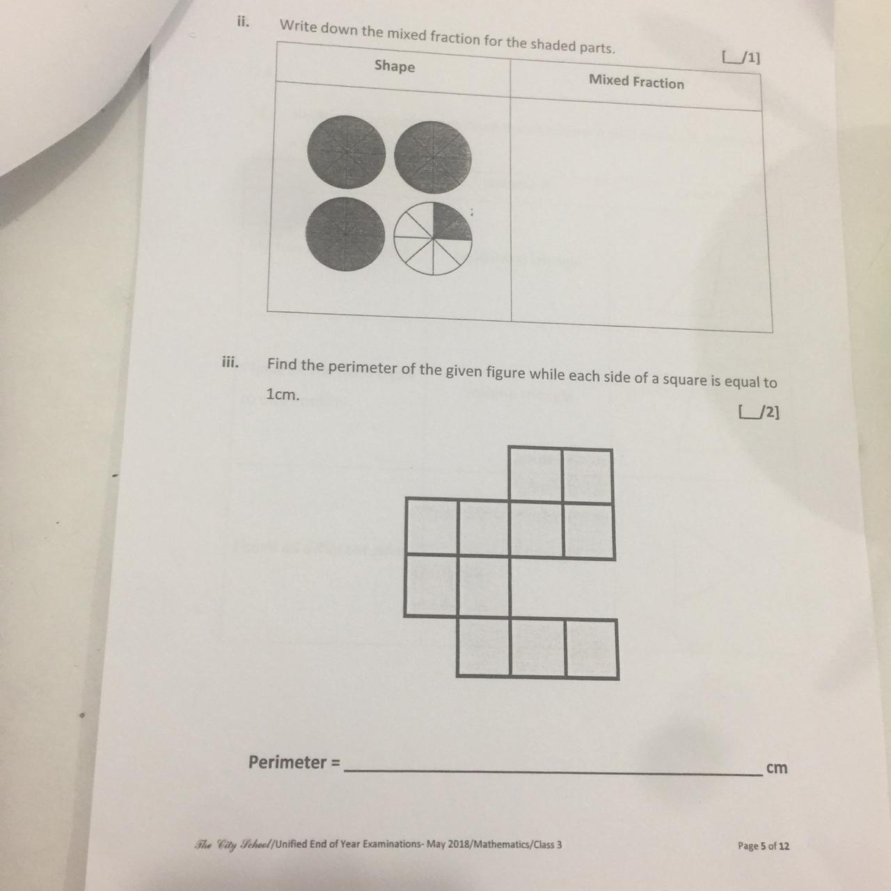 Math Revision Worksheet 2