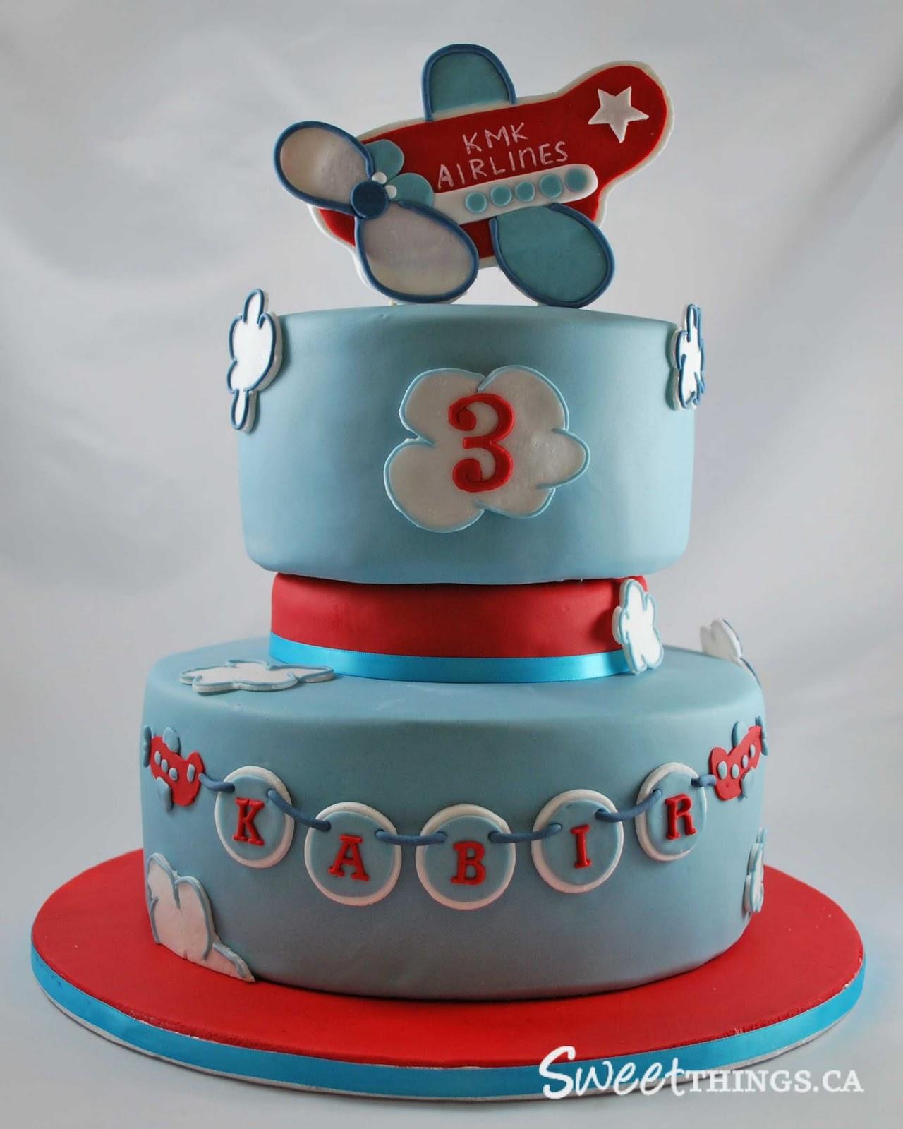 Sweetthings 3rd Birthday Cake Cute Airplane Cake