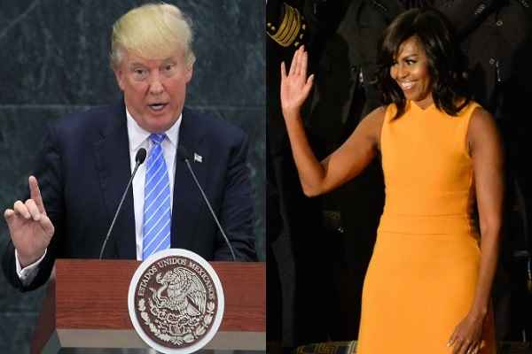 Michelle Obama slams Trump over his comments on women