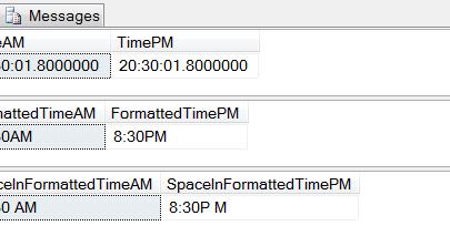 Datetime format in sql server 2008 am pm