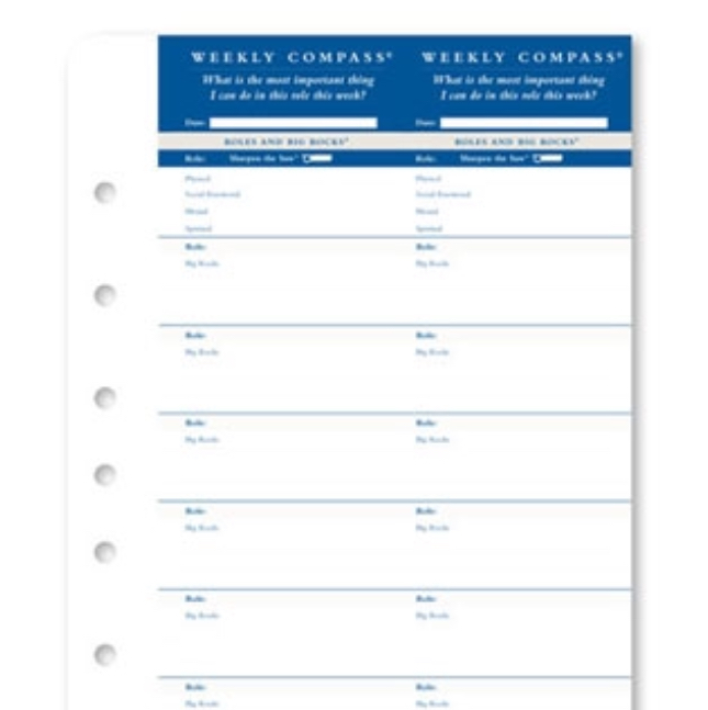 Franklin Covey Compass Card printable ~ Planner Fun