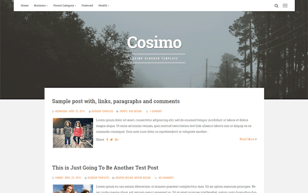 Cosimo Free Blogger Template