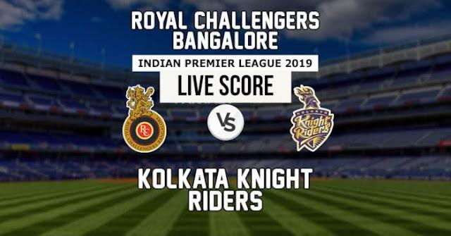VIVO IPL 2019 Match 17 RCB vs KKR Live Score and Full Scorecard