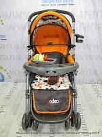 Kereta Bayi Pliko PK398 Rodeo Rocker Hadap Depan Belakang Orange