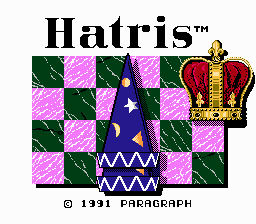 hatris NES title screen
