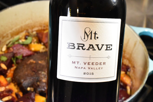 Mt. Brave Merlot Mt Veeder with Tagine Inspired Pot Roast.