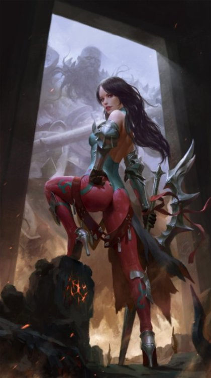 Heon Hwa Choe kilart artstation deviantart arte ilustrações fantasia ficção científica games mulheres