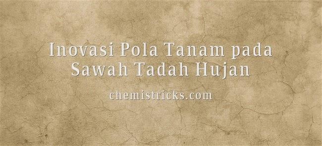 Inovasi Pola Tanam pada Sawah Tadah Hujan