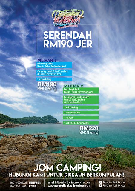 Pakej Perhentian 2018 , Pakej Pulau Perhentian Kecil 2018 , Camping Perhentian 2018