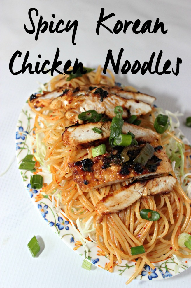 Easy Spicy Korean Chicken Noodles