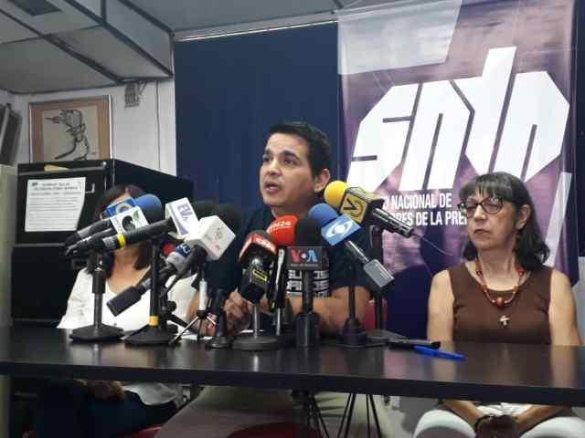 SNTP señaló que aumentaron a 36 los casos de periodistas detenidos por funcionarios de Maduro.