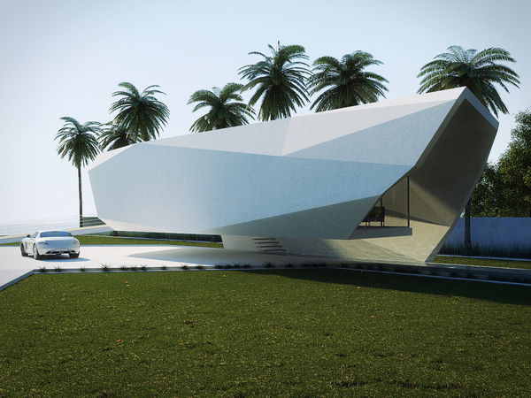 Wave Concept House Design By Gunes Peksen