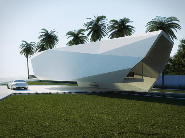 Wave Concept House Design By Gunes Peksen