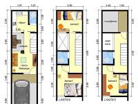 Desain Rumah Lebar 3 Meter 3 Lantai 3 Kamar Tidur