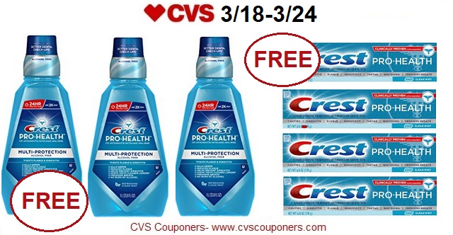 http://www.cvscouponers.com/2018/03/free-crest-prohealth-mouthwash-crest.html