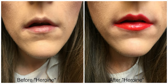 before and after maybelline superstay 24 matte ink lipstick heroine