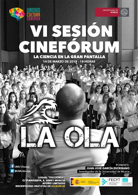 """VI sesión del cinefórum """"La ciencia en la gran pantalla"""""""