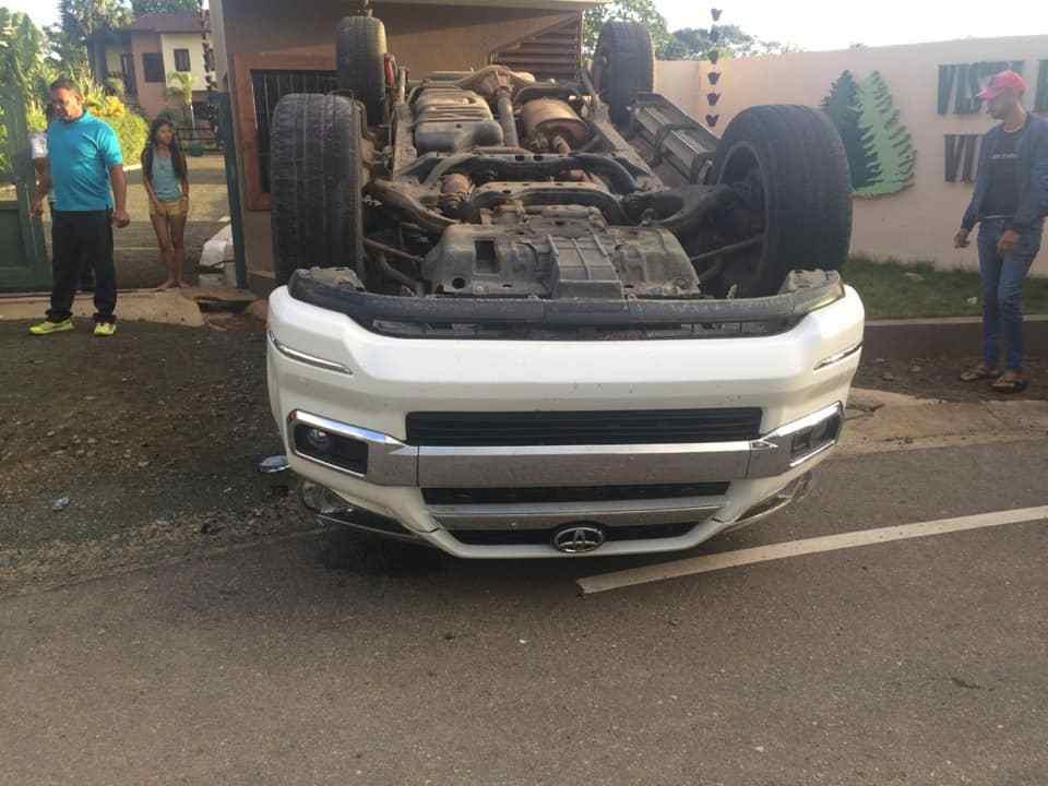 Hermano de Ala Jaza sufre accidente de tránsito en Jarabacoa
