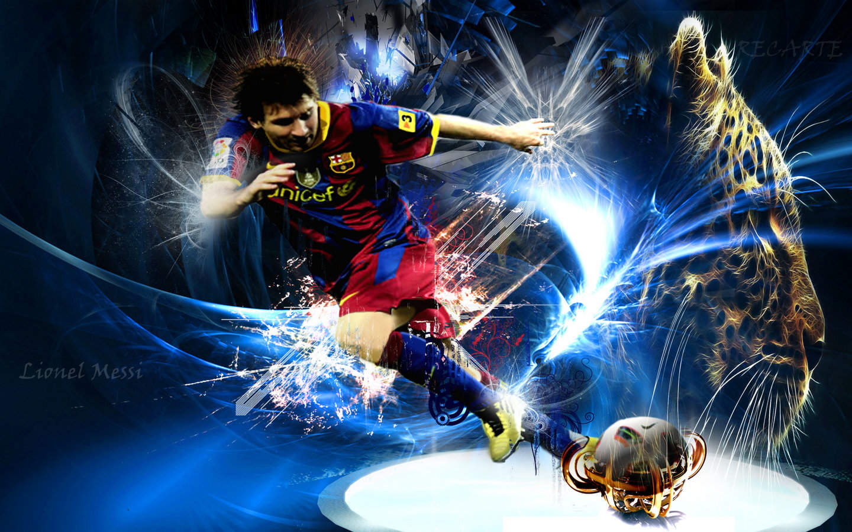 Lionel Messi Wallpaper 3D Wallpaper Barcelona Player