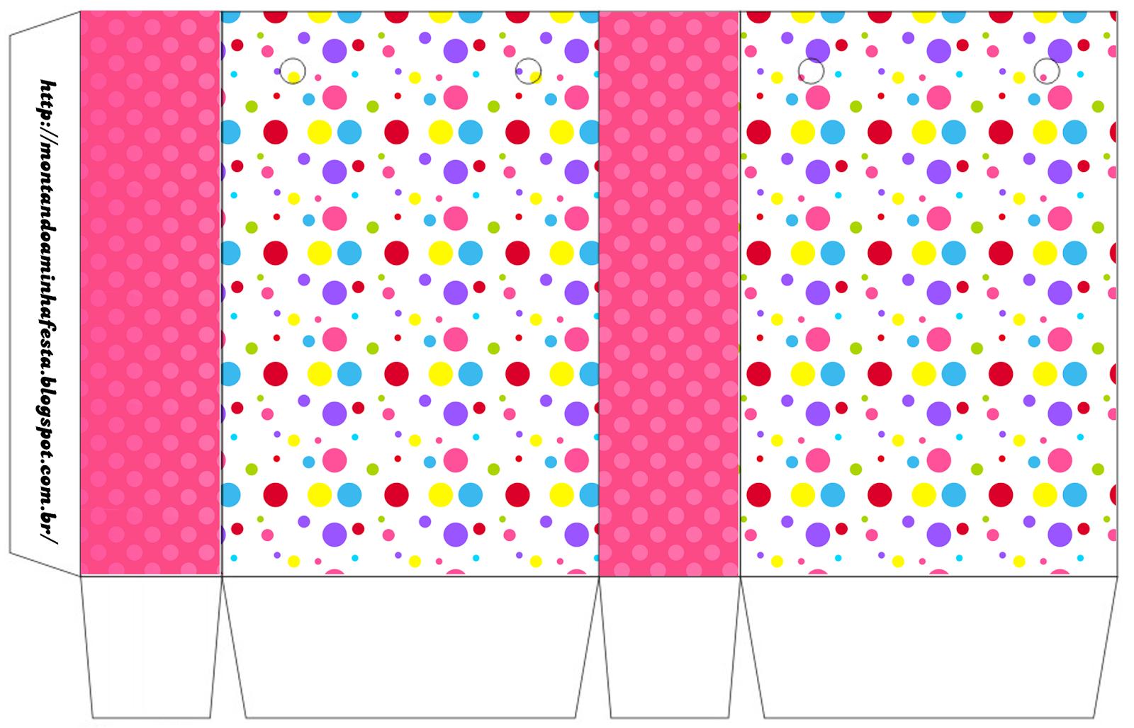 Puntos De Colores Para Niña: Cajas Para Imprimir Gratis