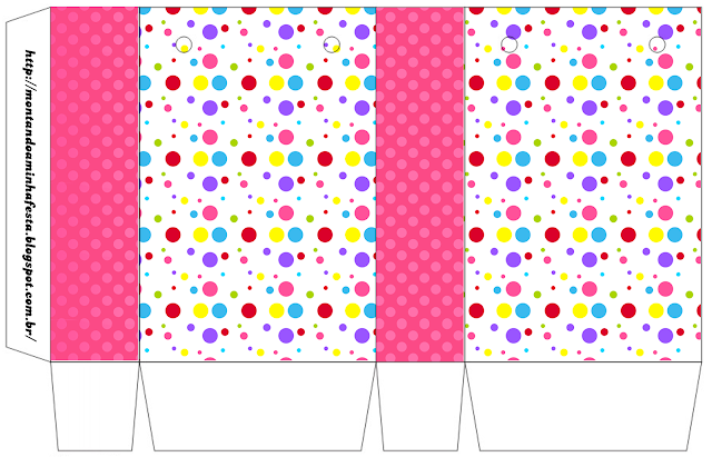 Sweet 16 Colored Dots for Girls Free Printable Box.