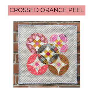 crossed orange peel quilt pattern