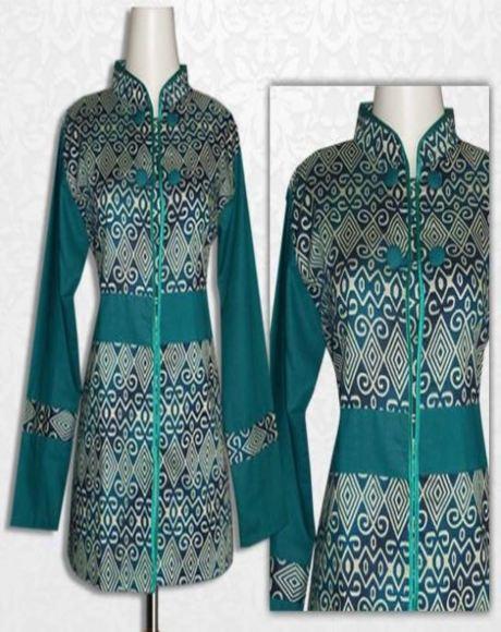 Model Baju Batik Kerja Guru Kombinasi Kain Polos Galeri Batik Terbaru