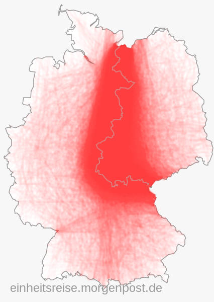 10k+ people draw the former inner-german border