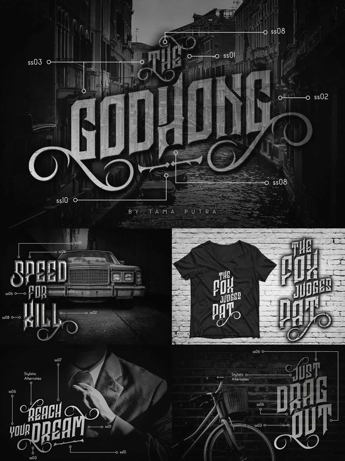 font, typeface, pindunk, decorative, gothic, rebel, victorian