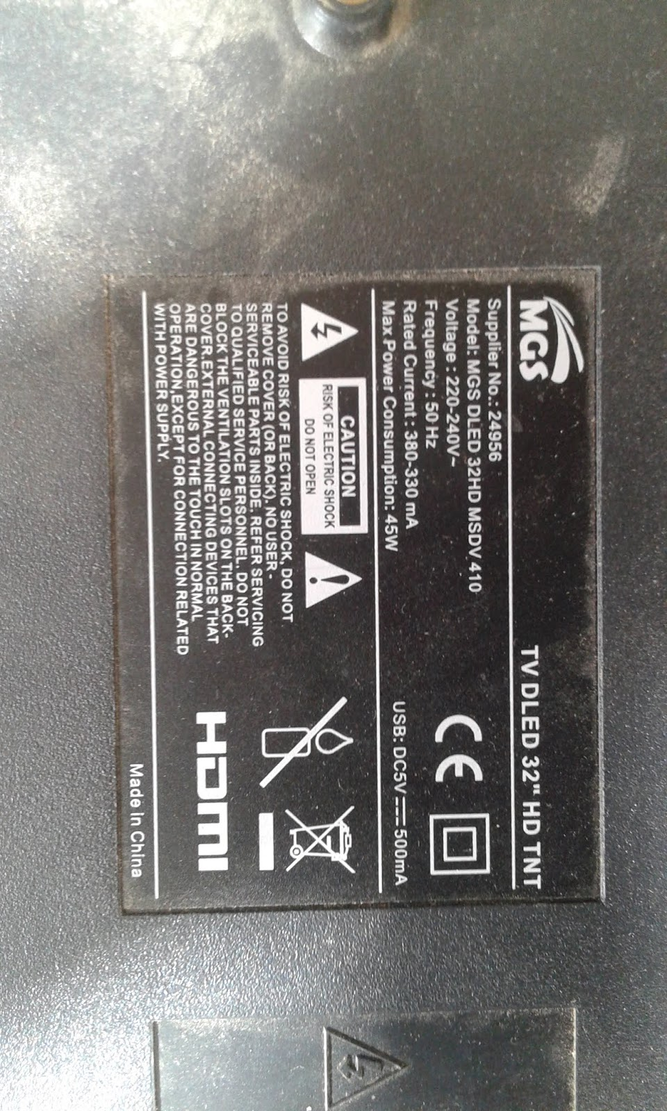 dump MGS dled tv32 hd tnt - flash eprom-electronic