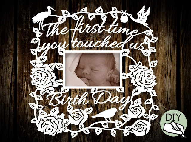 New Born Baby Papercut Template