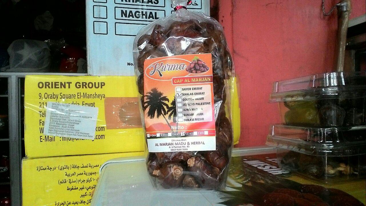 Grosir Dan Ecer Aneka Ragam Kurma Al Marjan Herbal Hikmah Khalaz Saudi 1kg Golden 1 Kg 2 Ons