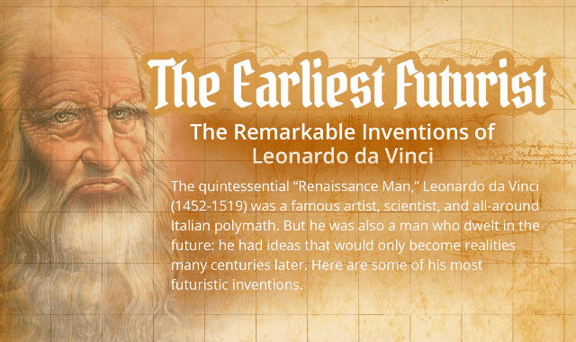 The Earliest Futurist: The Remarkable Inventions Of Leonardo da Vinci