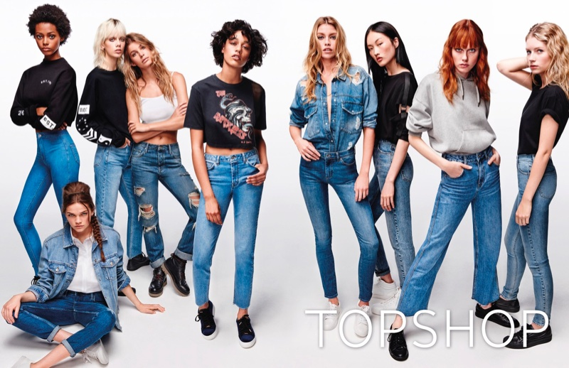 Stella Maxwell & Lottie Moss Return for Topshop Jeans' Spring 2017 Campaign