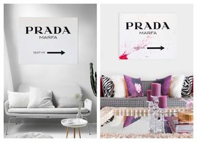 Cómo hacer un Poster rótulo Prada Marfa en blanco y negro