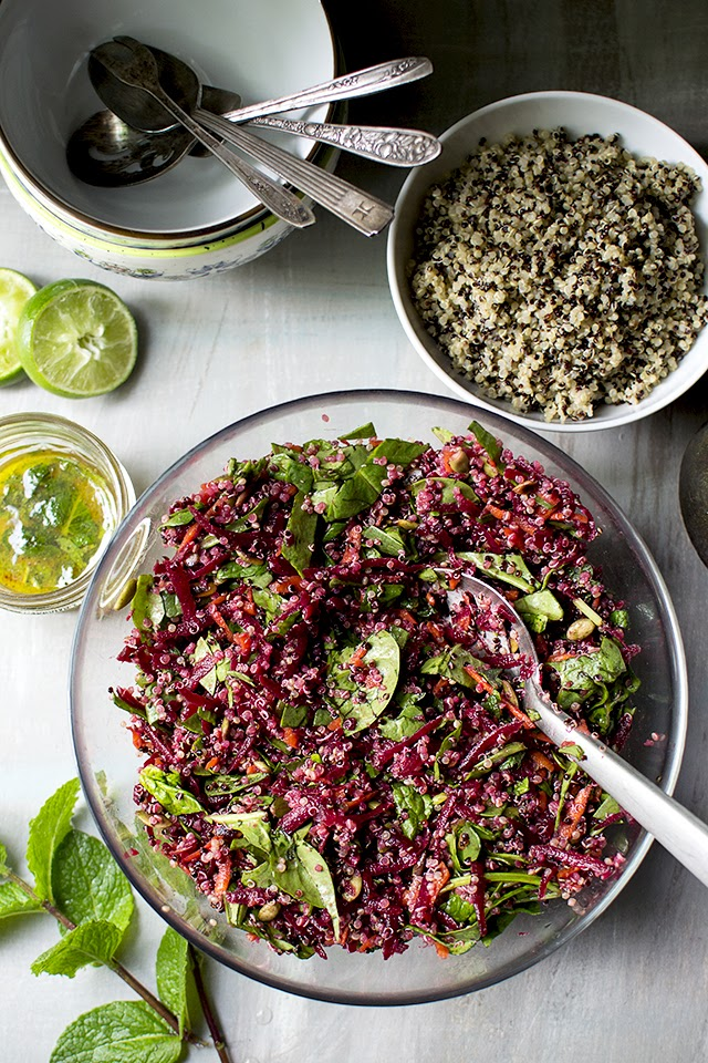 Colorful Beet & Quinoa Salad