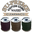 Save BIG on discontinued Su-Preme Waxed Cotton Cords.
