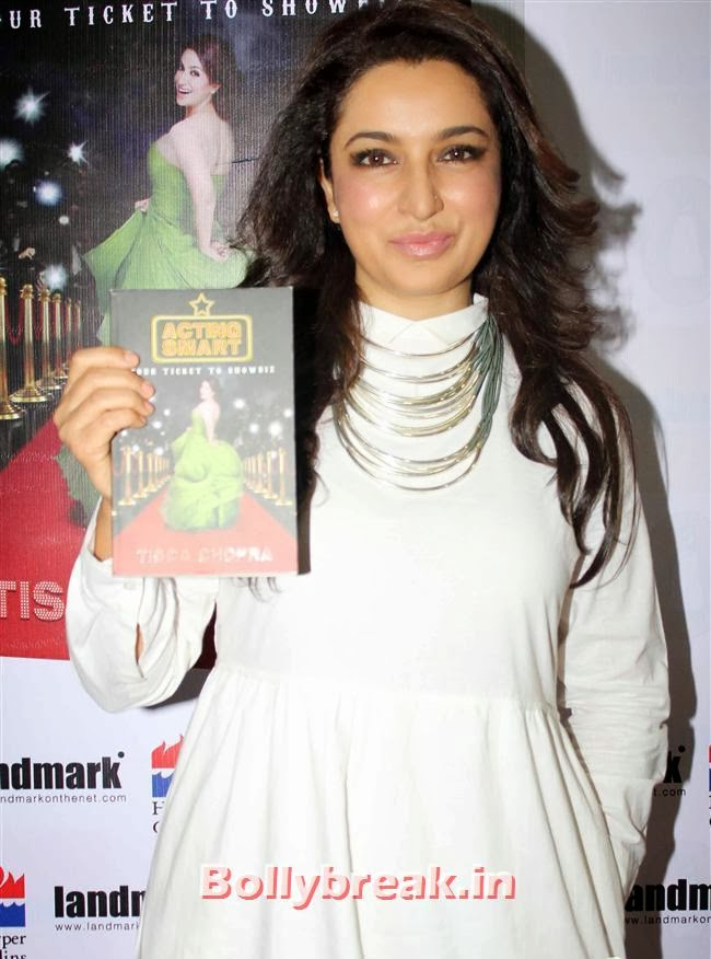 Tisca Chopra in white dress, Tisca Chopra Launches Her Book 'Acting Smart'