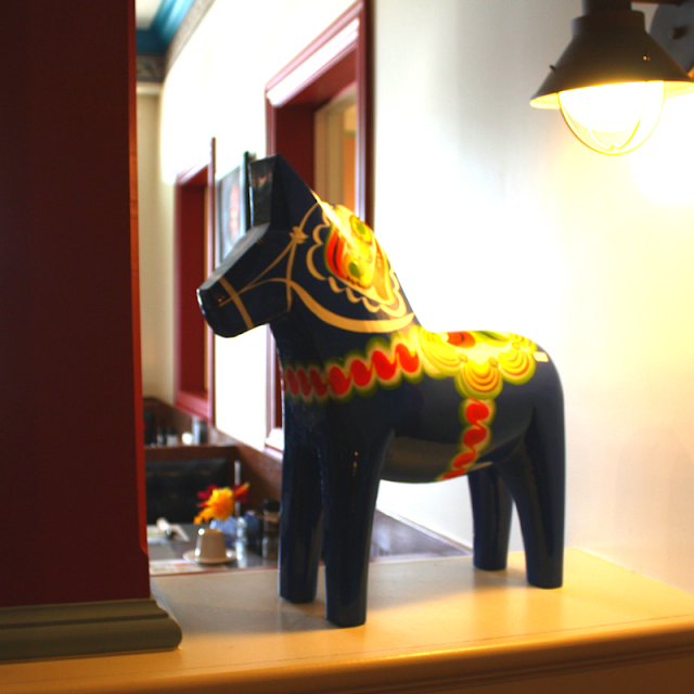 Dala Horse at the Stockholm Inn in Rockford, Illinois
